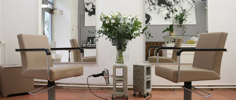 POP hair salon, Dejvicka 24. Styling chairs made in Germany by Greiner